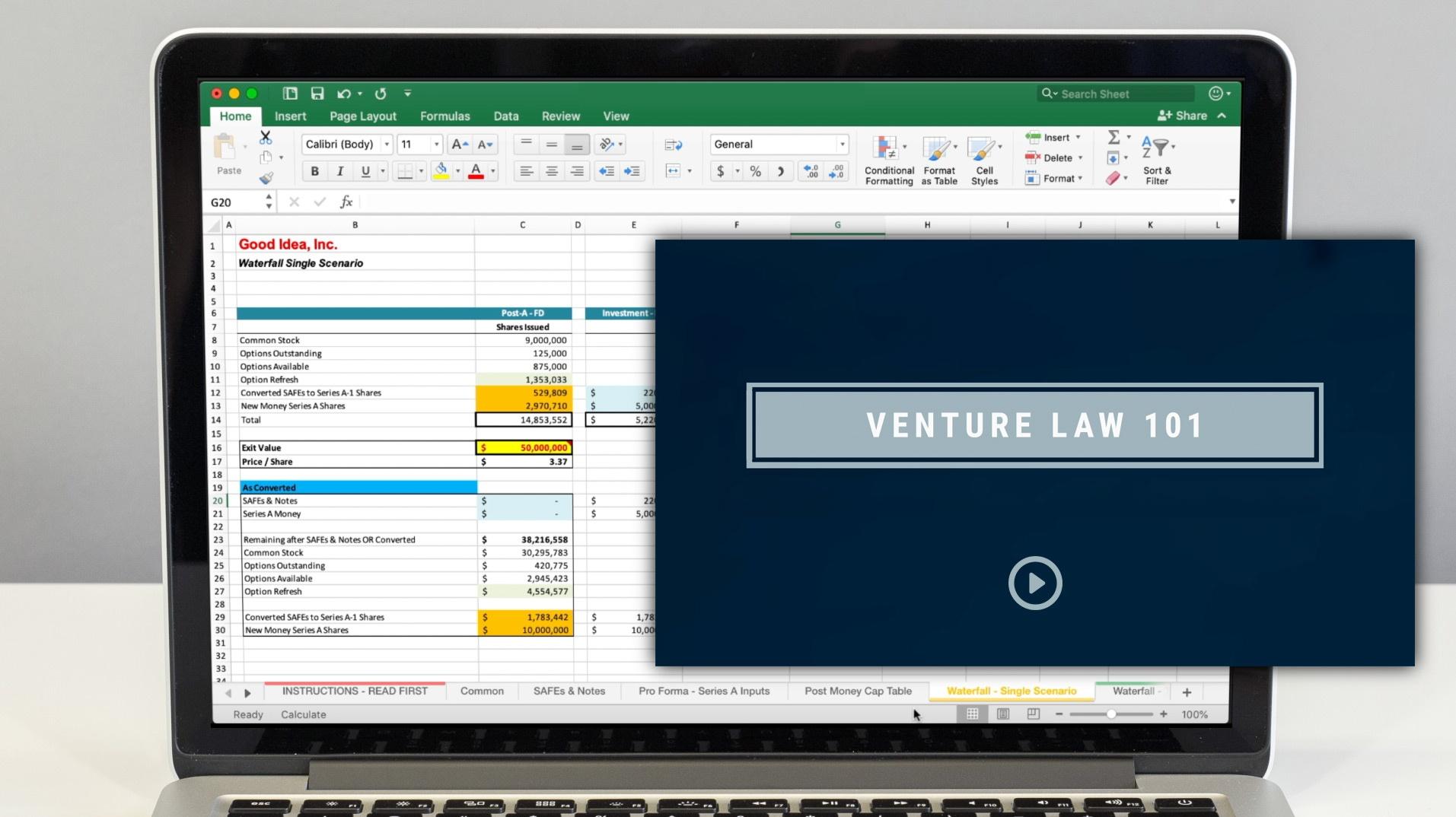 Venture Law 101 + Startup Cap Tables