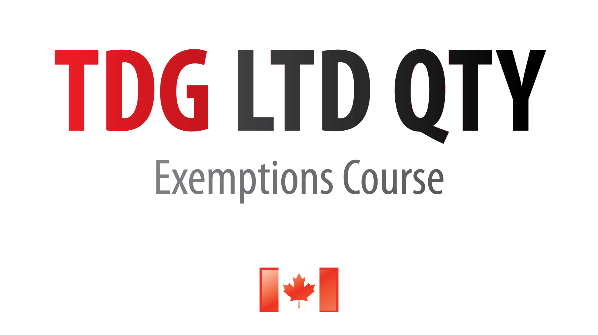 TDG Limited Quantity & Exemptions