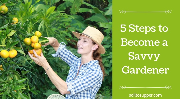 5 Steps to Become a Savvy Gardener