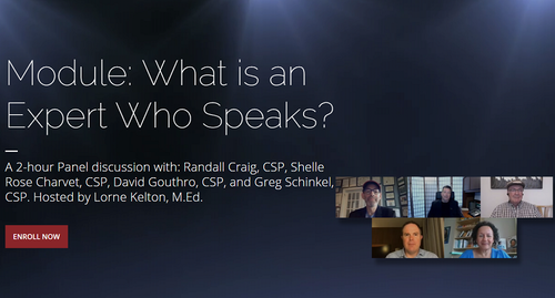 Module 2 - What is an Expert Who Speaks?