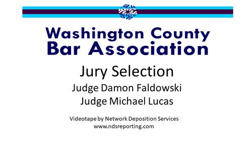 Jury Selection: Civil and Criminal Trials (1 PA Substantive CLE Credit)