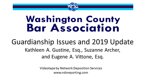 Guardianship Issues and 2019 Update (1 PA Substantive CLE Credit)