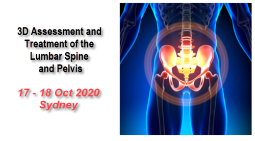 3D Assessment & Treatment of the Lumbar Spine & Pelvic Complex (Sydney 14-15 Aug 2021)
