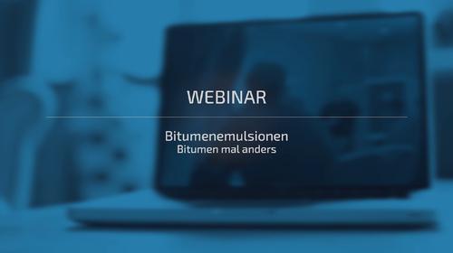 Webinar - Bitumenemulsionen