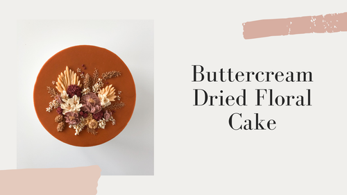 Buttercream Dried Floral Cake