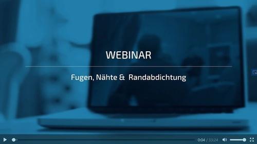 Webinar - Fugen, Nähte, Rand <br> Teil 2 Nähte
