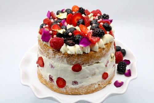 Cake Angel Frutos Rojos &  Marmoleado