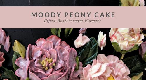 Moody Peony Cake