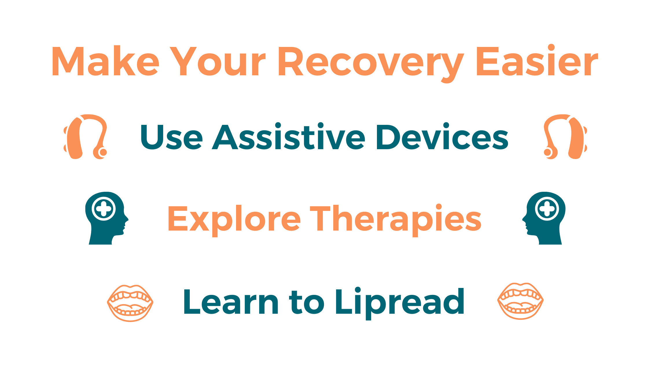 Make your recovery easier by using assistive devices, explore therapies, and learning to lipread.