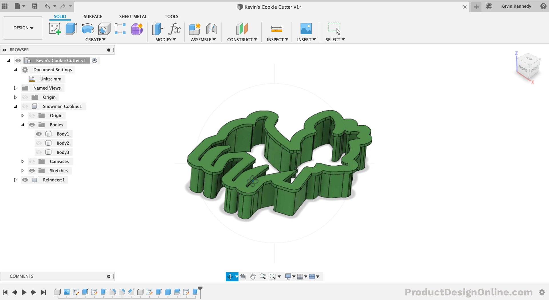 Design 3D Printable Cookie Cutters in Fusion 360